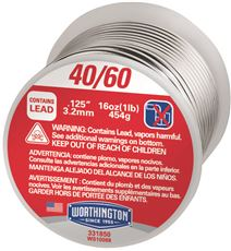 WIRE SOLDER 40/60, 1 LB. ROLL