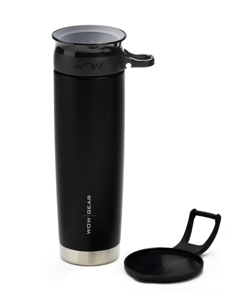 WOW Gear 360 Stainless Steel Cup, 22oz, Blac