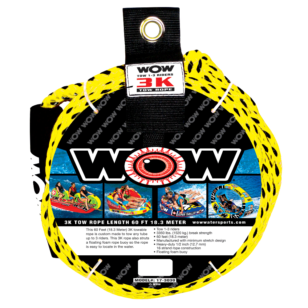 WOW Watersports 3K 60' Tow Rope