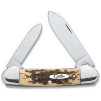 263 AMBER BONE CANOE KNIFE