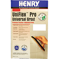 UniFlex Pro HSG010008 Polymer Modified Sanded Grout?, 8 lb, Box, Aztec Silver, Powder