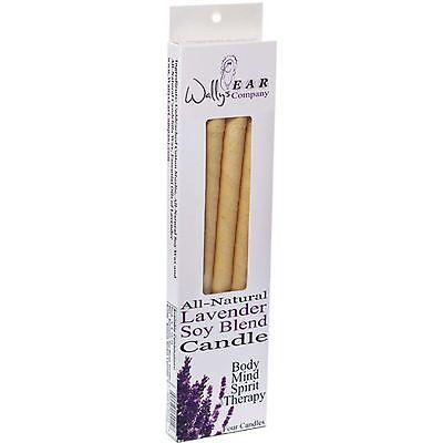 Wallys Natural Soy Blend Lavender Ear Candles (1x4 EACH)