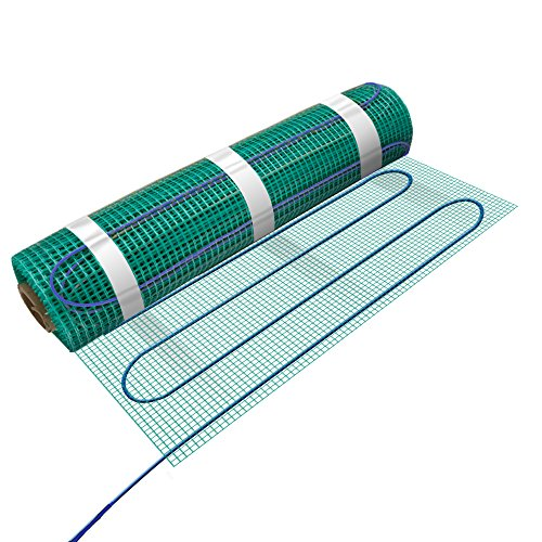 "WarmlyYours Tempzone Bench Shower Mat 120V 18"" X 2.7', 2.6 sq.ft."