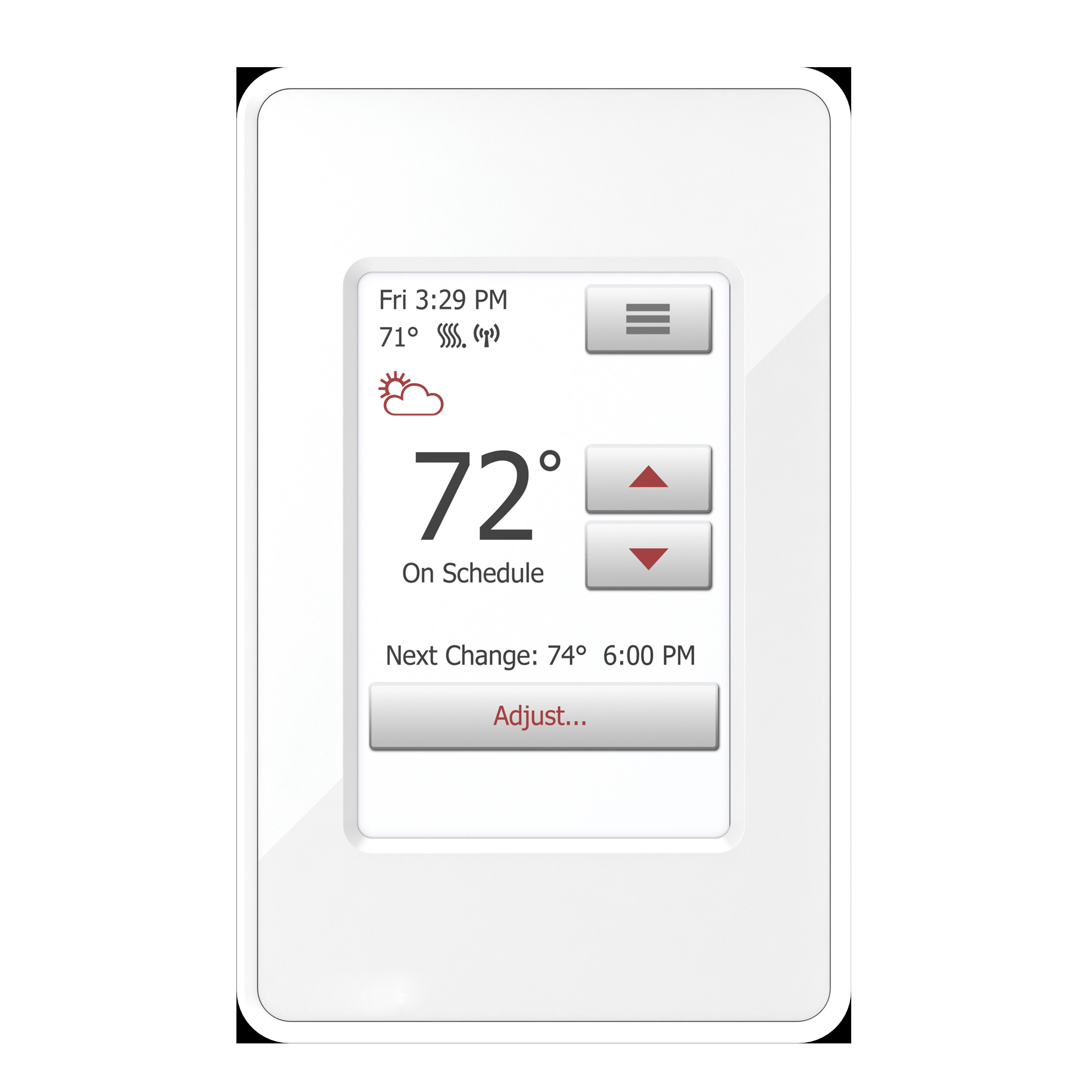 nSpire Touch WiFi: WiFi and Touch Thermostat. Programmable, Class A GFCI, w/Floor Sensor