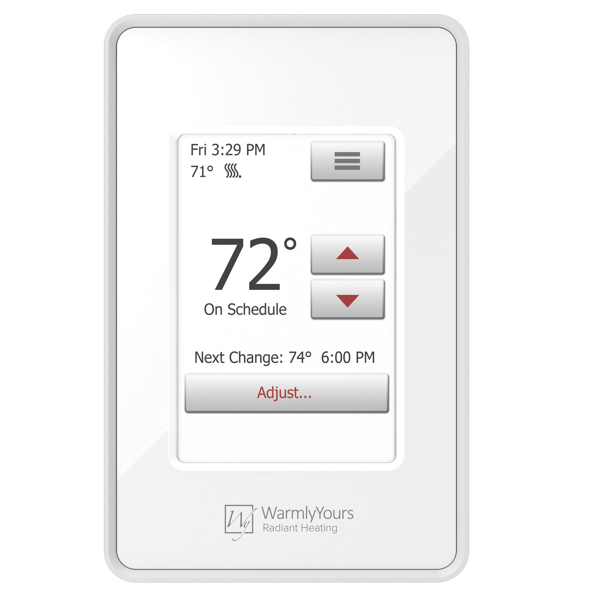nSpire Touch Programmable Thermostat (White)