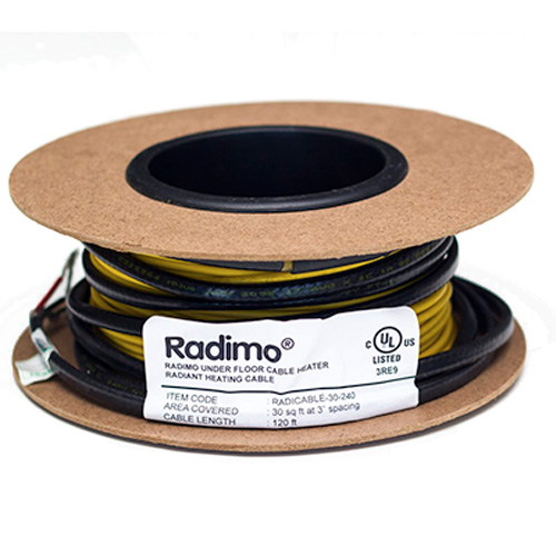Floor Heating Cable by Radimat - 10sqft, 120 Volts
