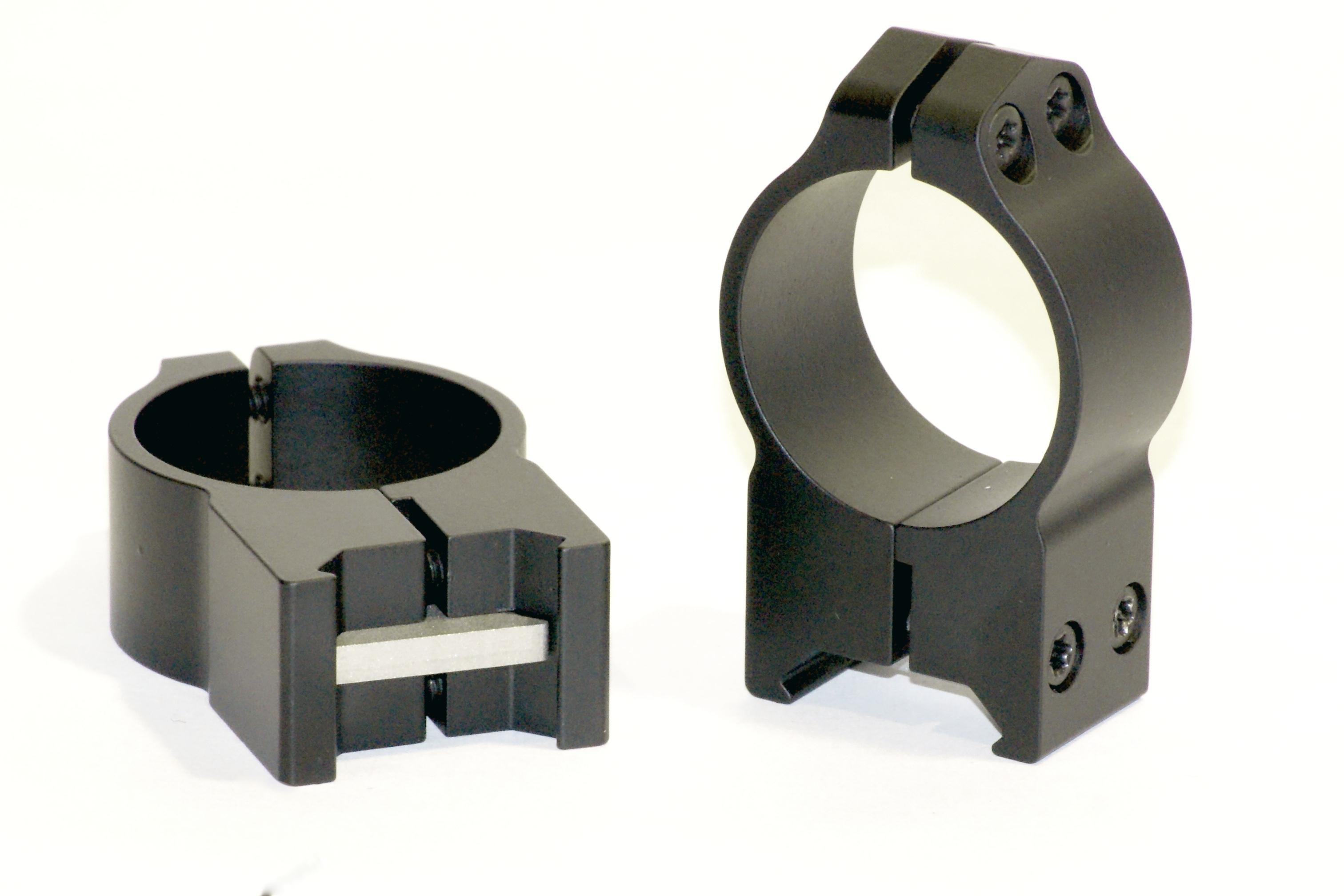 Warne 30MM Permanent Attach Rings High Matte 215M