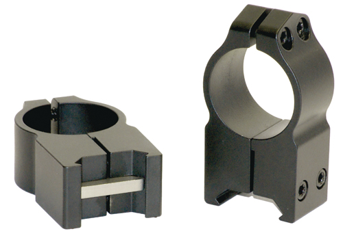 Warne 1 Inch Permanent Attach Rings Medium Silver 201S