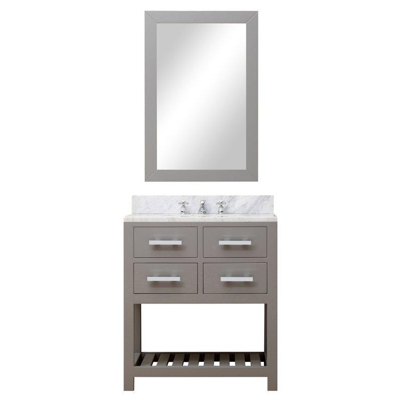 """Water Creation Madalyn 30G 30"""" Cashmere Grey Single Sink Bathroom Vanity"""