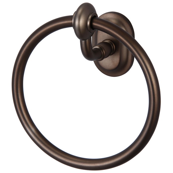 Elegant Matching Glass Series Towel Ring, Oil Rubbed Bronze Finish With Protective Coating