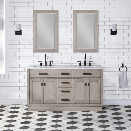 "Chestnut 60"" Double Bathroom Vanity"