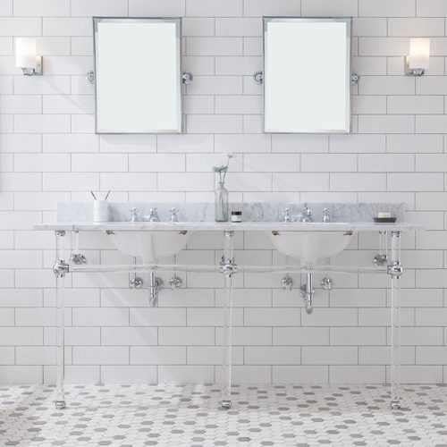 """Empire 72"""" Wide Double Wash Stand & P-Trap in Chrome"""