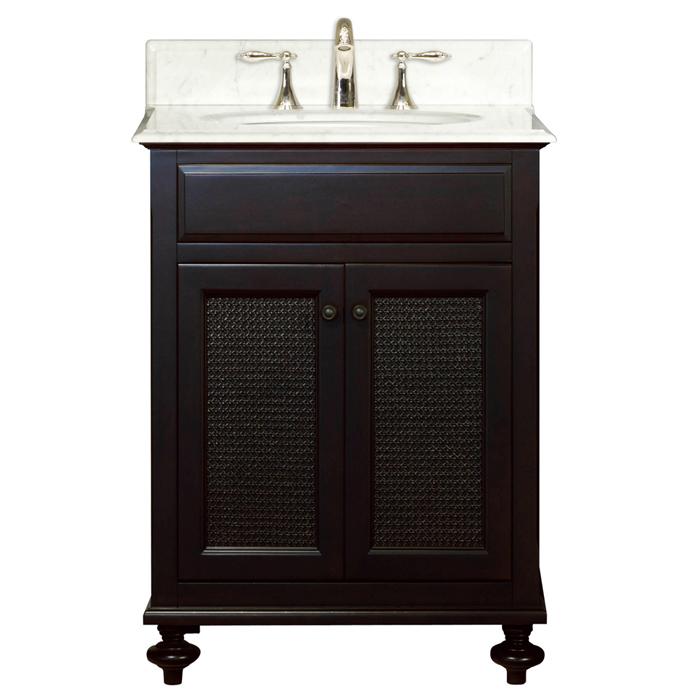"London 24 24"" Dark Espresso Single Sink Bathroom Vanity From The London Collection, Espresso"