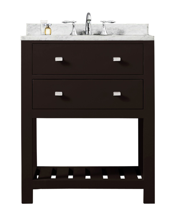 "Madalyn 24E 24"" Espresso Single Sink Bathroom Vanity From The Madalyn Collection"