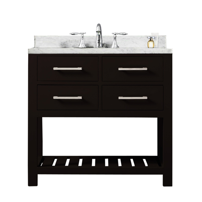 "Madalyn 30E 30"" Espresso Single Sink Bathroom Vanity From The Madalyn Collection"