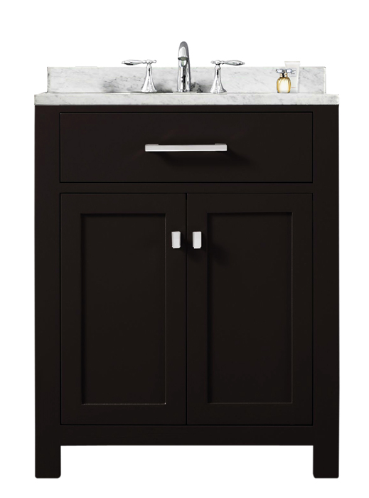 "Madison 24E 24"" Espresso Single Sink Bathroom Vanity From The Madison Collection"