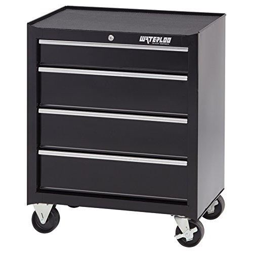 26IN 4-DRAWER CABINET BLK