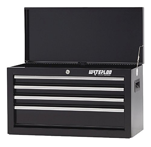 26IN 4-DRAWER CHEST BLACK
