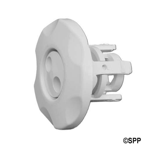 "Jet Internal, Waterway Mini Jet, Pulsator, 2-1/2"" Face, 5-Scallop, White"