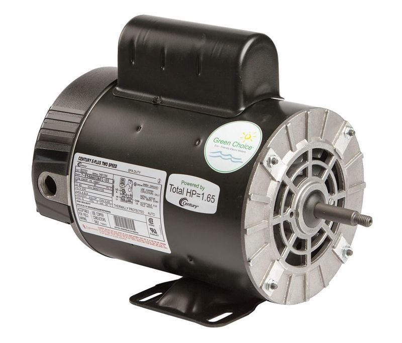 Motor, A.O.Smith, Thru-Bolt, 56-Frame, 2-Speed, 2.0HP, 230V, 7.4/1.4 Amp