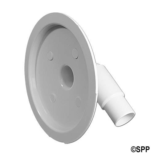 "Vacuum Plate, Skimmer, Waterway, Flo-Pro/Flo-Pro II w/ 90-Degree Adapter, 6-3/4""Diameter"