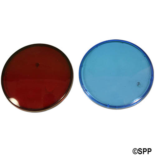 Light Lens Kit, Waterway, Colored Lens Only (1 Red & 1 Blue)
