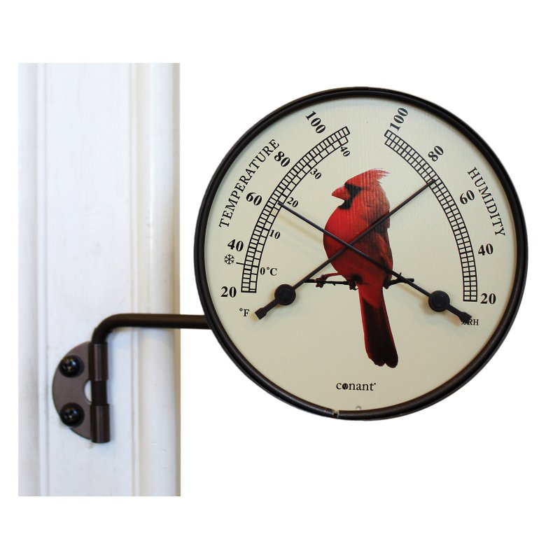 Comfortmeter with Cardinal Bird Dial Bronze Patina Finish