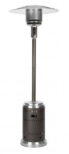 Commercial Mocha and Stainless Steel Patio Heater