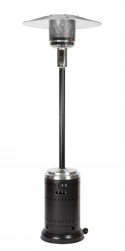 Commercial Hammer Tone Black and Stainless Steel Patio Heater