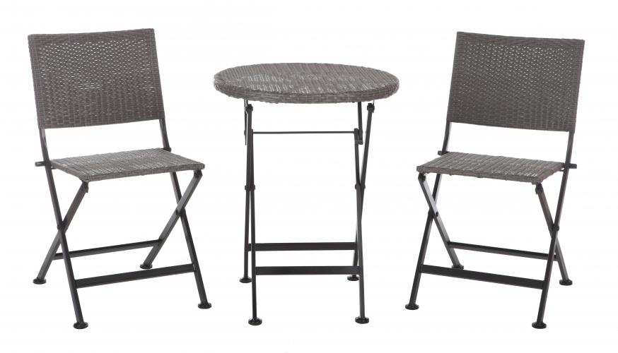 Acosta Folding Wicker 3pc. Bistro Set