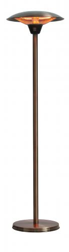 Frisco Brushed Copper Haloge Patio Heater