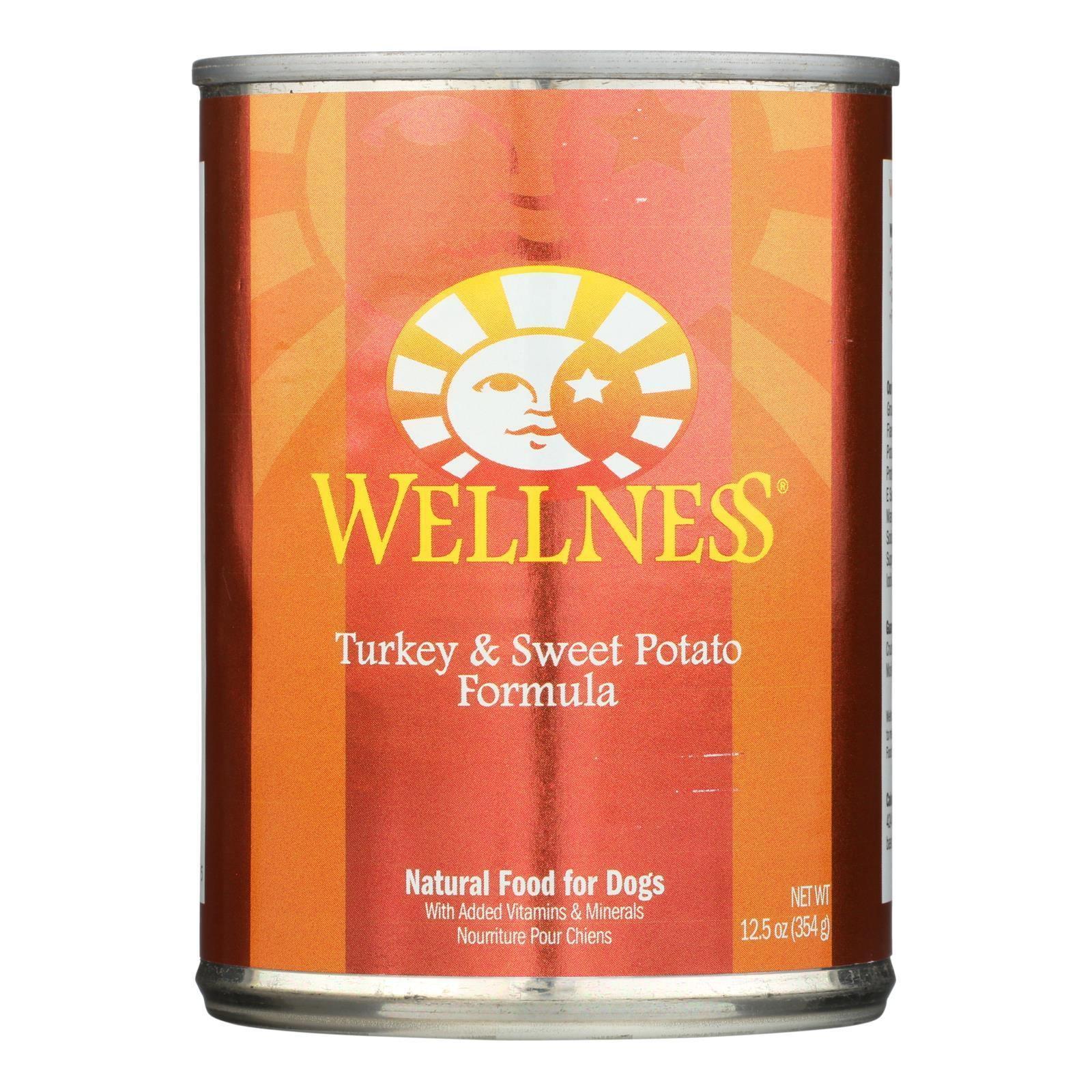 Wellness Turkey & Sweet Potato Canned Dog Food (12x12.5 Oz)