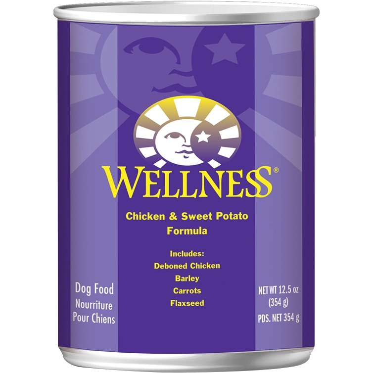 Wellness Sweet Potato & Chicken Canned Dog Food (12x12.5 Oz)