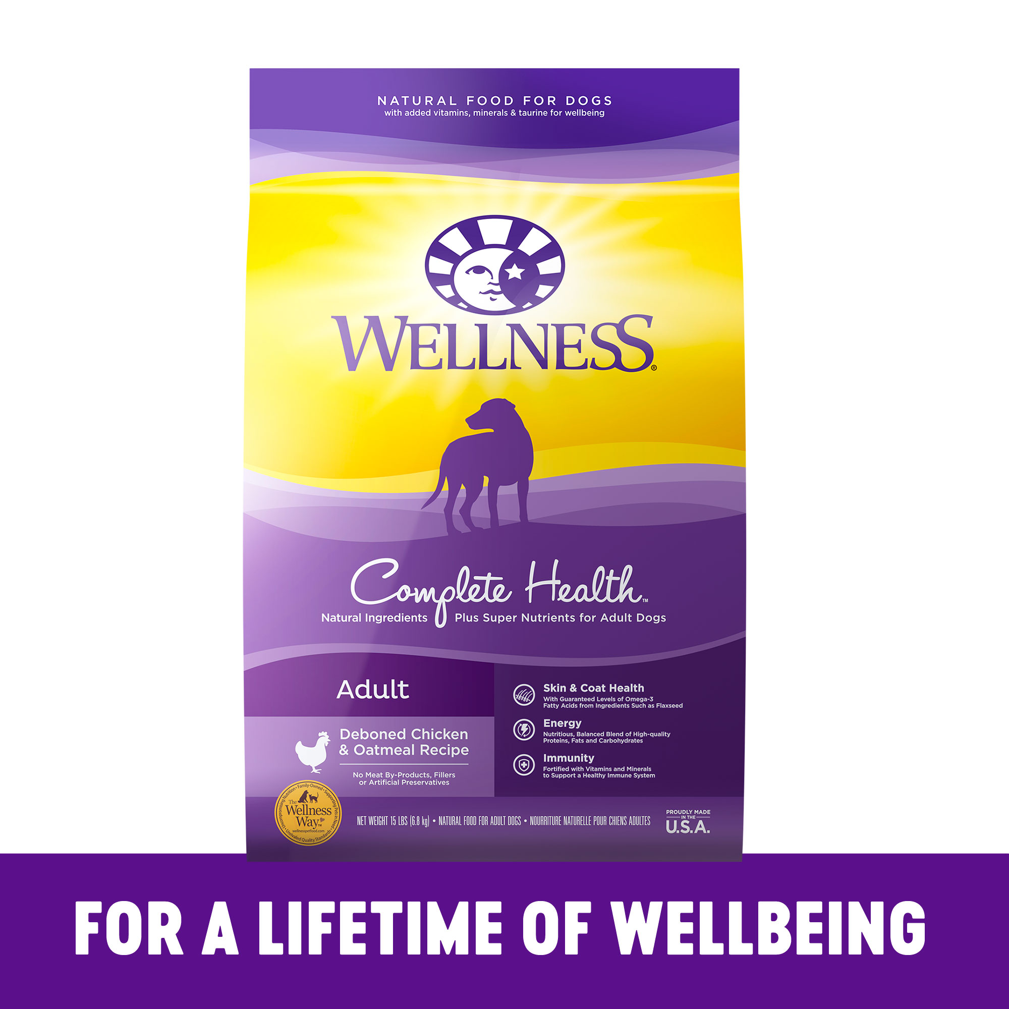 Wellness Super 5 Mix Chicken Dry Dog Food (1x15lb)