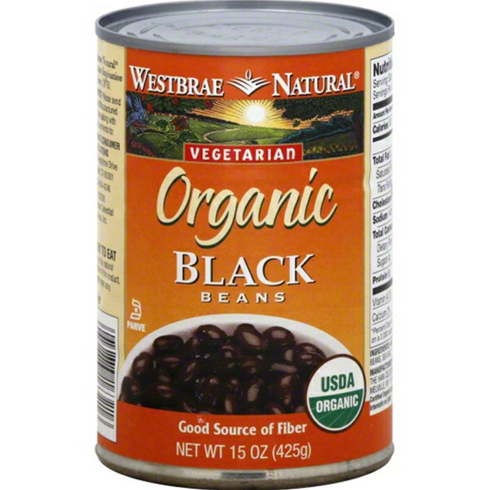Westbrae Natural - Fat Free Black Beans ( 12 - 15 OZ)