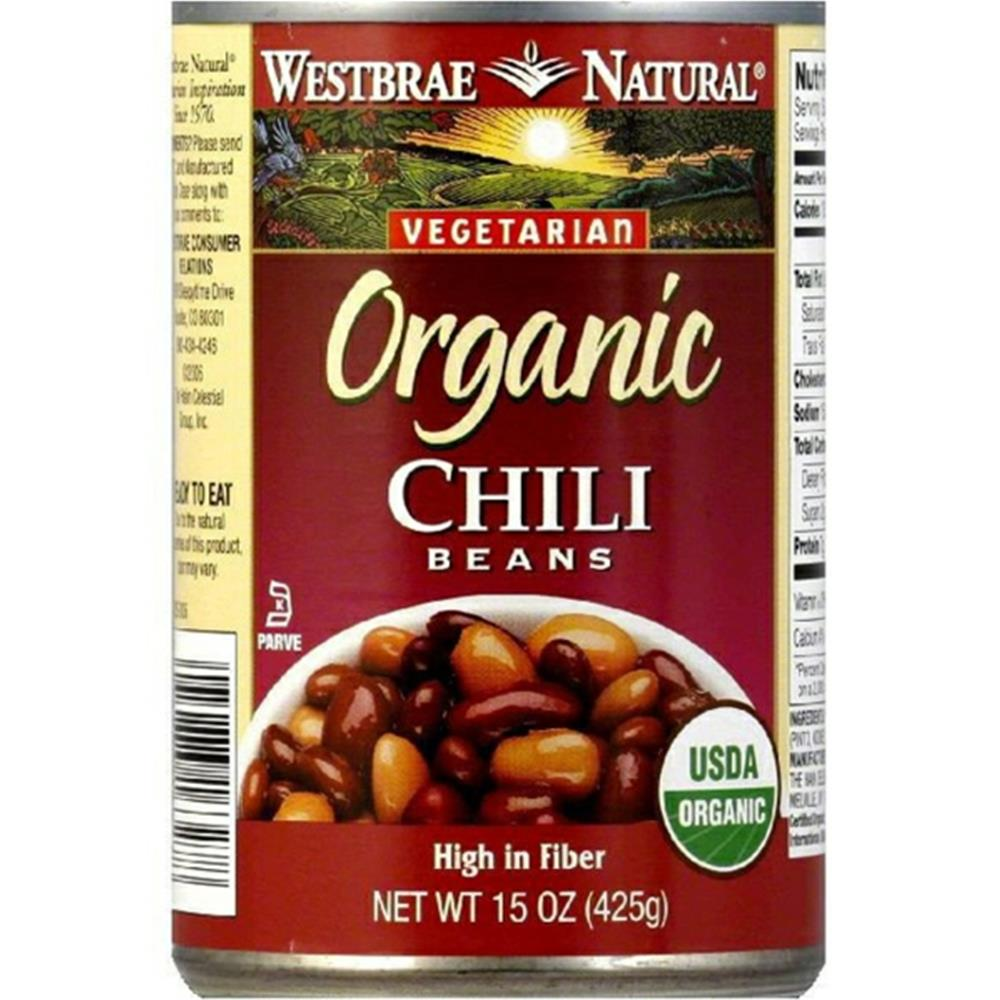 Westbrae Natural - Fat Free Chili Beans ( 12 - 15 OZ)