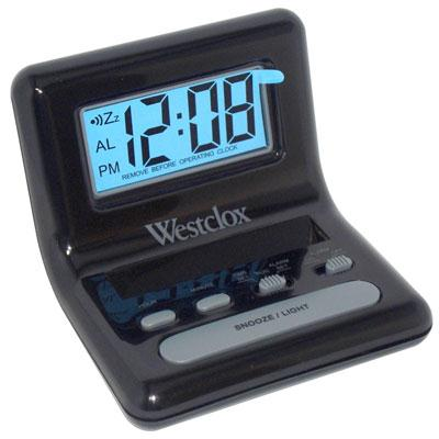 LCD Black Bedside Alarm Clock