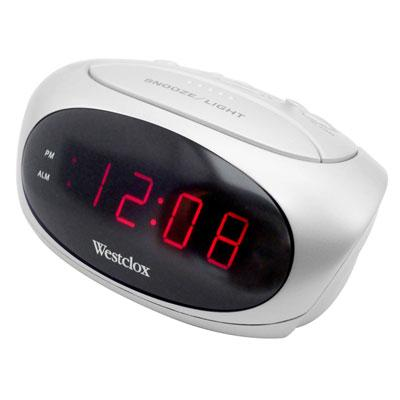 "LED 6"" Alarm Clock White"