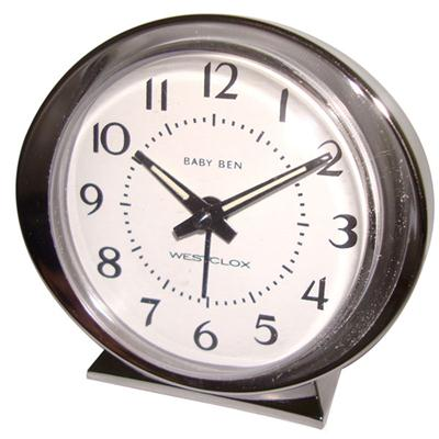 Analog White Face Alarm Clock