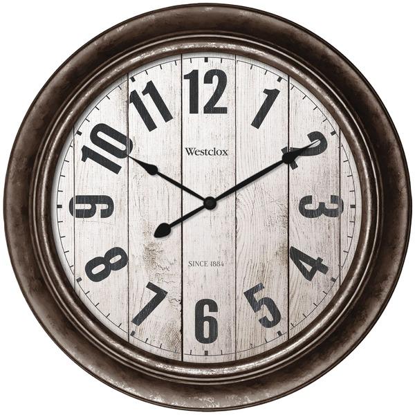 "15"" RUSTIC ROMAN NUMERAL CLOCK"