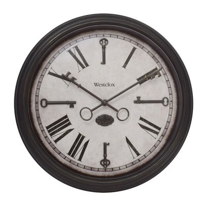 "15"" Wall Clock With Keys"