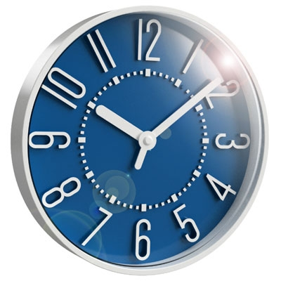 "10"" Storm Blue Wall Clock"