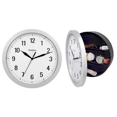 "9.75"" Clock w Hidden Storage"