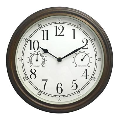 """12"""" Indoor Outdoor Wall Clock"""