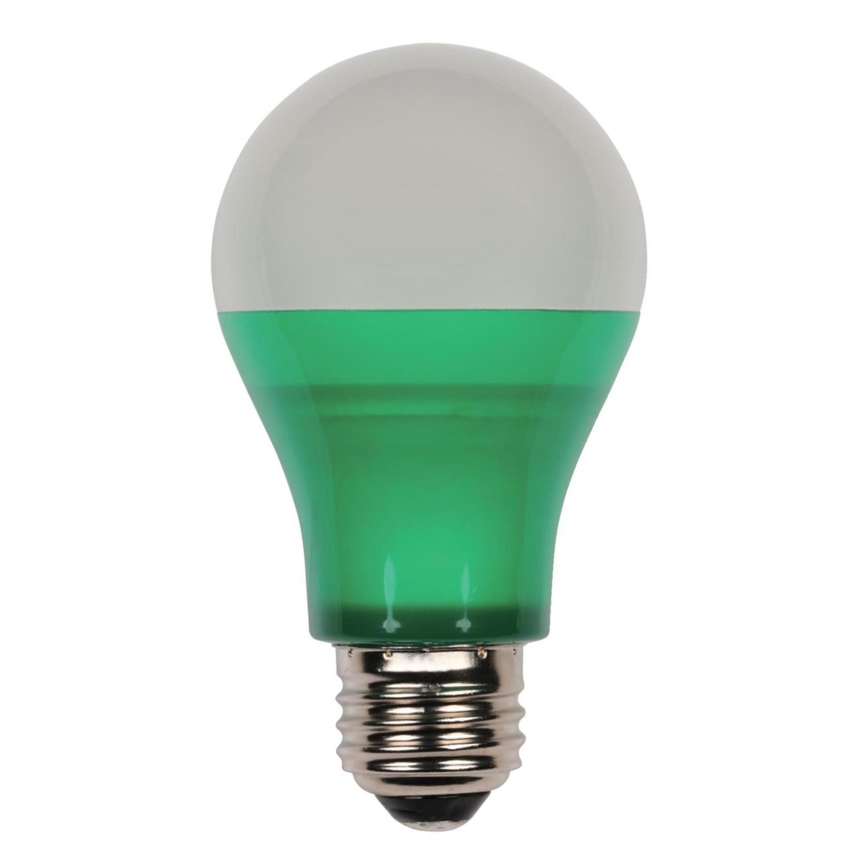 6W Omni A19 LED Party Bulb Green E26 (Medium) Base, 120 Volt, Box