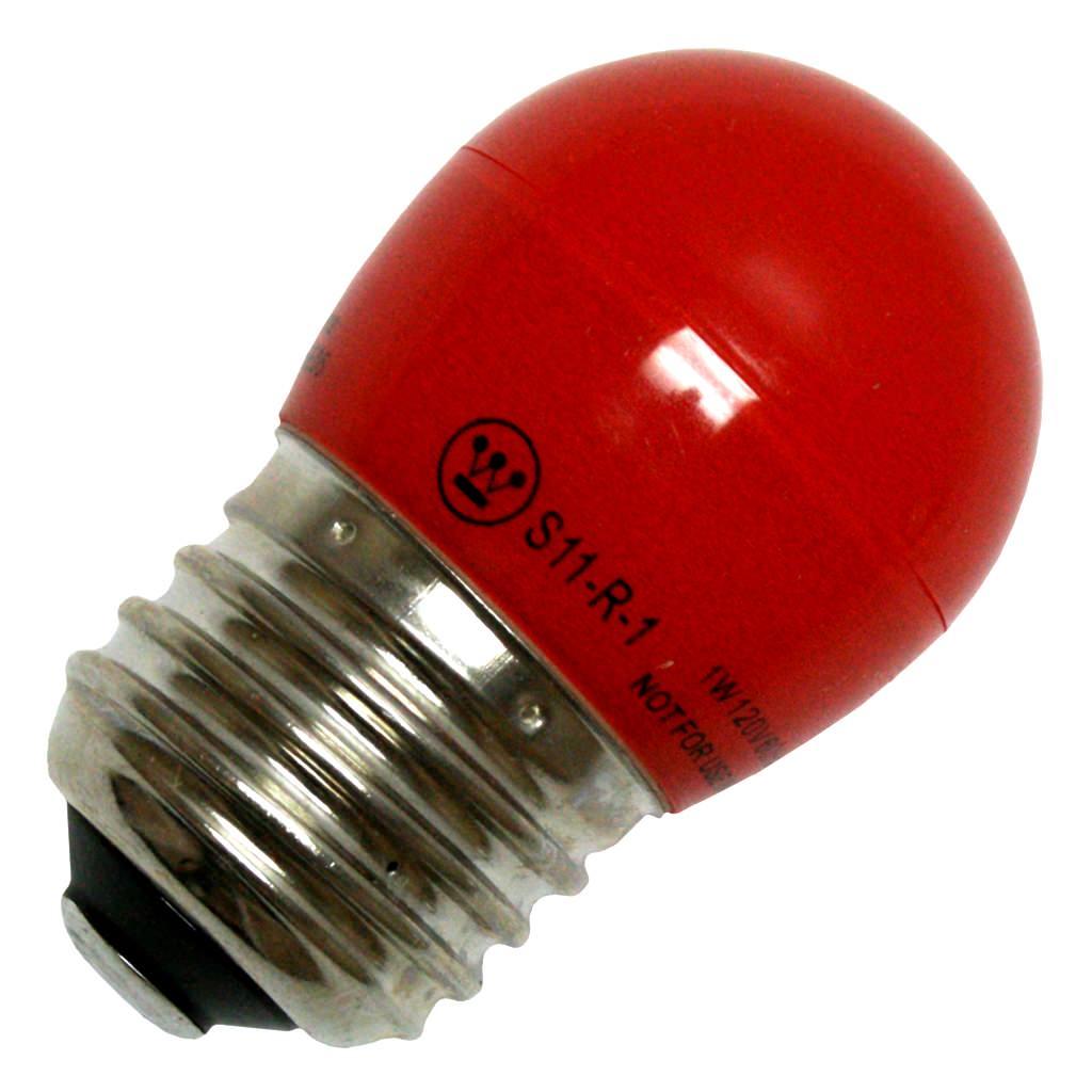 1 Watt Red LED S11 120V SB###