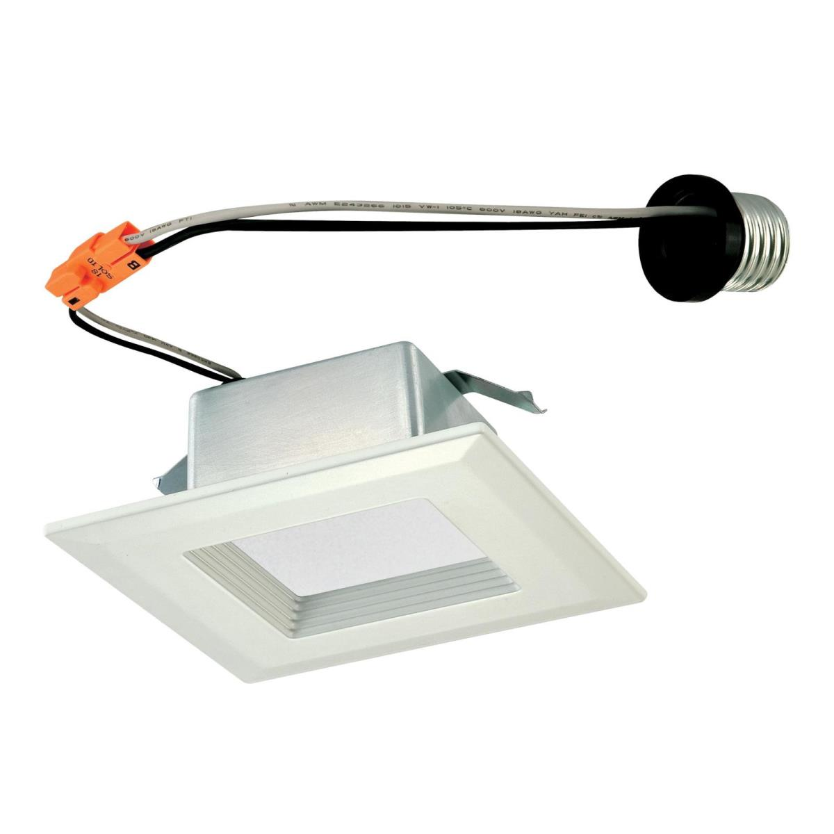 "10W Square Recessed LED Downlight 4"" Dimmable 3000K E26 (Medium) Base, 120 Volt, Box"