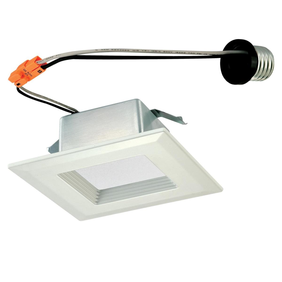 "10W Square Recessed LED Downlight 4"" Dimmable 4000K E26 (Medium) Base, 120 Volt, Box"