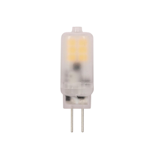 1.5W G4 LED Frosted 3000K G4 Pin Base, 12 Volt, Card