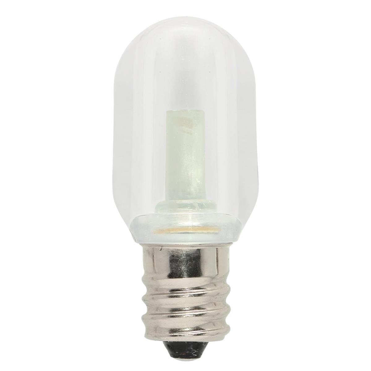 0.6W S6 LED Clear 2700K E12 (Candelabra) Base, 120 Volt, Card